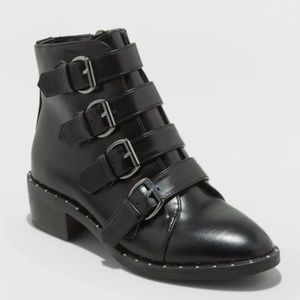 A New Day Moto Buckle Ankle Booties